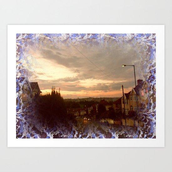 Urban Nightfall. Art Print
