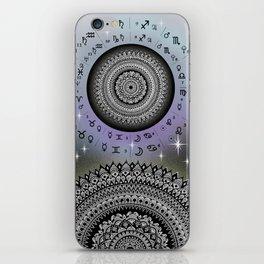 Starry Night Mandala Zodiac Chart iPhone Skin