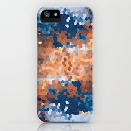 Copper and Denim Abstract iPhone Case