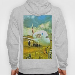 Emirates A380 Airbus Pop Art Hoody