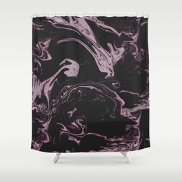 Ruin - Dark Suminagashi Marble Series: 03 Shower Curtain