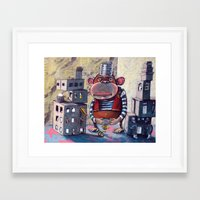 boxing Framed Art Prints featuring Boxing by Greg Orfanos