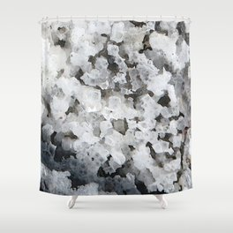 Watercolor Ice 15, Evaporite Crystals Shower Curtain