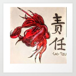 The Lone Fish Art Print