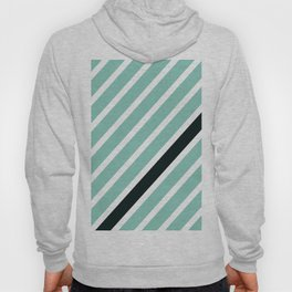 Diagonal lines mint with 1 black line Hoody