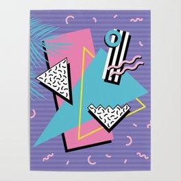 Memphis Pattern 57 - 80s - 90s Retro / 2nd year anniversary design Poster