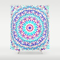 cosmic Shower Curtains featuring Cosmic by Abstracts by Josrick