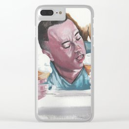 Forrest Gump Eatin' The Ice Cream Clear iPhone Case
