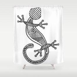 Tangled Gekko Shower Curtain
