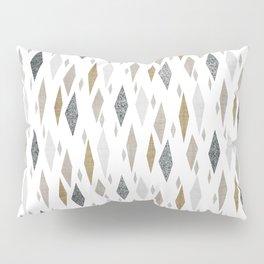 Danish Diamond Mid-Century Geometric Print Tan Pillow Sham