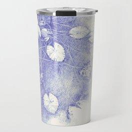 Lotus in blue Travel Mug