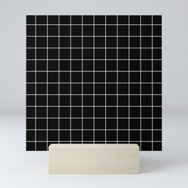 Grid Simple Line Black Minimalist Mini Art Print