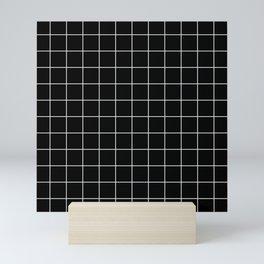 Grid Simple Line Black Minimalist Mini Art Print