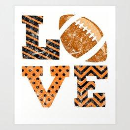 Love Football Distressed Art Print