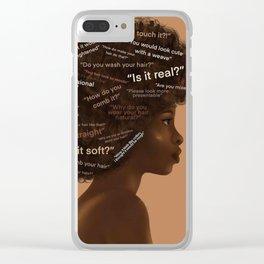 Black Hair Clear iPhone Case