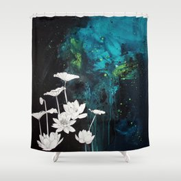 Lotus Study Shower Curtain