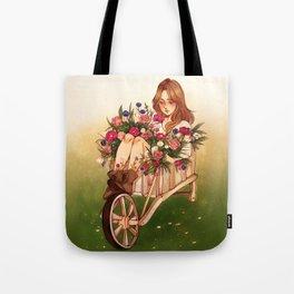 Wheelbarrow Garden Tote Bag
