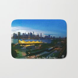 New York City as viewed from the Beautiful Brooklyn Heights Bath Mat