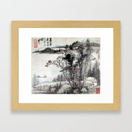 Mei Qing Landscapes after Ancient Masters Framed Art Print