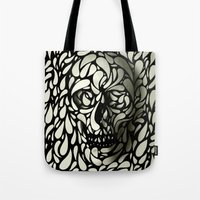 tumblr Tote Bags featuring Skull by Ali GULEC