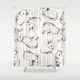 Vintage Bunnies Shower Curtain