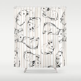 Vintage Bunnies Shower Curtain