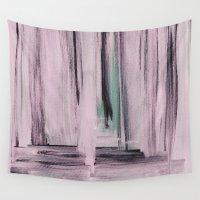 et Wall Tapestries featuring Rose et Vert by Georgiana Paraschiv