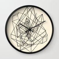crystals Wall Clocks featuring Crystals by Anderbear