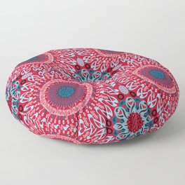 Calligraphic Boho (Red) Floor Pillow