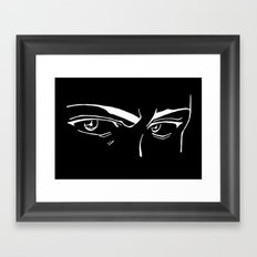 Doubt eyes bw Framed Art Print