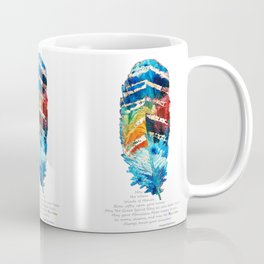 Colorful Feather Art -  Blessing - By Sharon Cummings Coffee Mug