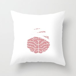 Brain Tumor Surgery Survivor Concussion Gift  Throw Pillow