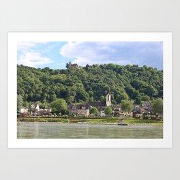Burg Osterspai am Rhein Art Print