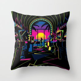 Arcade Saloon Throw Pillow