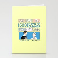 500 days of summer Stationery Cards featuring 500 Days of Sumner by StellaDays