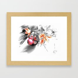 apples and lilies Framed Art Print