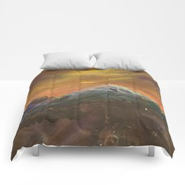 Sunset Mountains Comforters