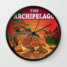 The Archipelago  Wall Clock