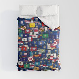 Flags of all US states Comforters