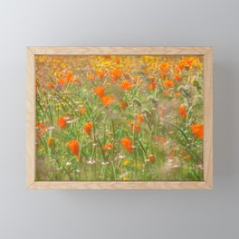 Poppies under the Wind Framed Mini Art Print
