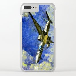 Airliner Van Gogh Clear iPhone Case