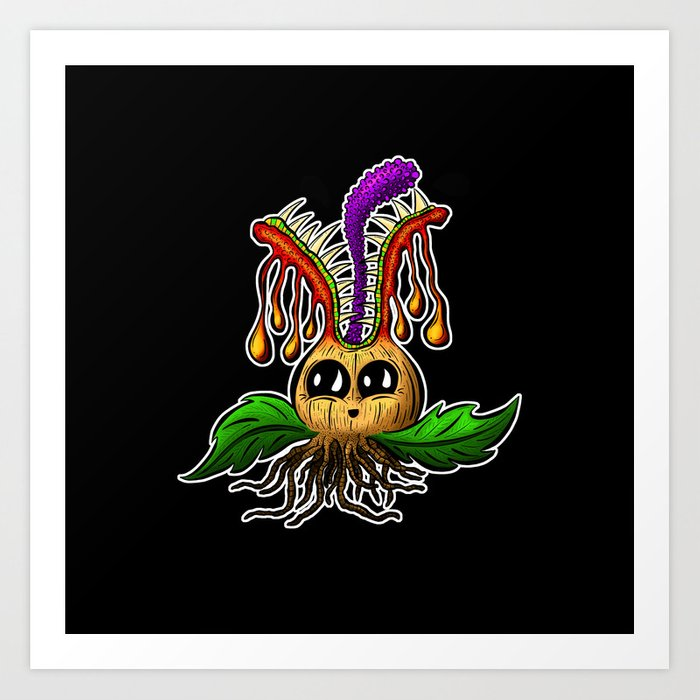 Betty Bulb Blooming Monster Art Print