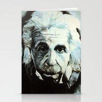 einstein Stationery Cards featuring Einstein by Olivia Potts Art