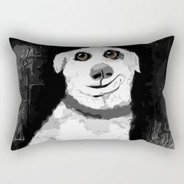 Man's Best Friend Pup Art Rectangular Pillow