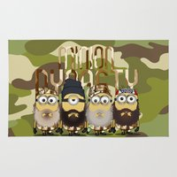 minions Area & Throw Rugs featuring Minions Mashup Duck Dinasty by Akyanyme