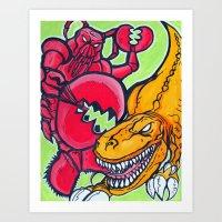 Lobster Magnet Art Print