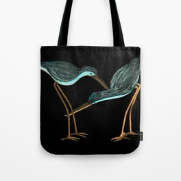 Sandpipers in Teal Blue Tote Bag
