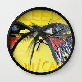 Proceed W/ Caution Wall Clock