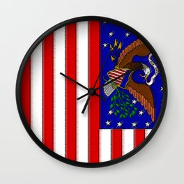 Fancy Flag: United States USA Wall Clock