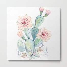 Prettiest Cactus Rose by Nature Magick Metal Print